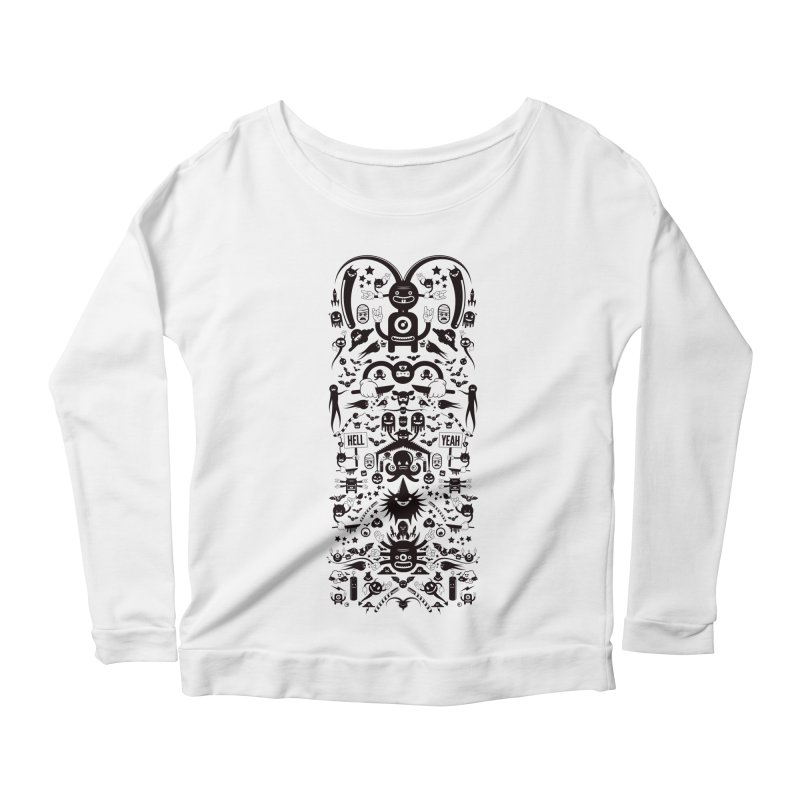 Hell Women's Scoop Neck Longsleeve T-Shirt by Tony Bamber's Shop