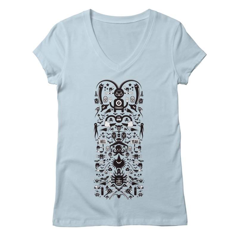 Hell Women's V-Neck by Tony Bamber's Artist Shop