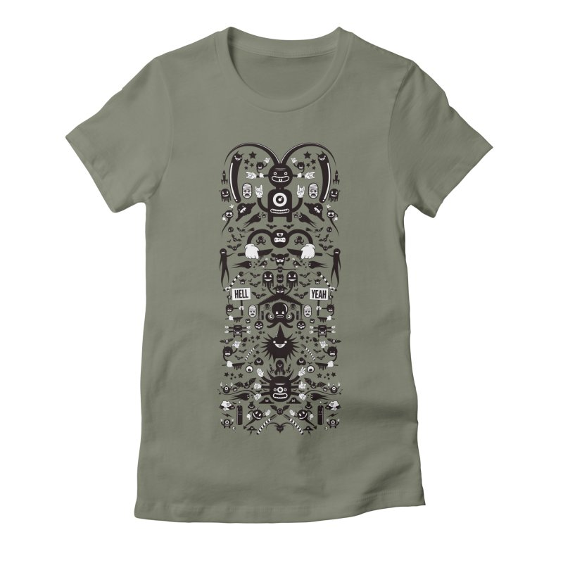 Hell Women's Fitted T-Shirt by Tony Bamber's Artist Shop
