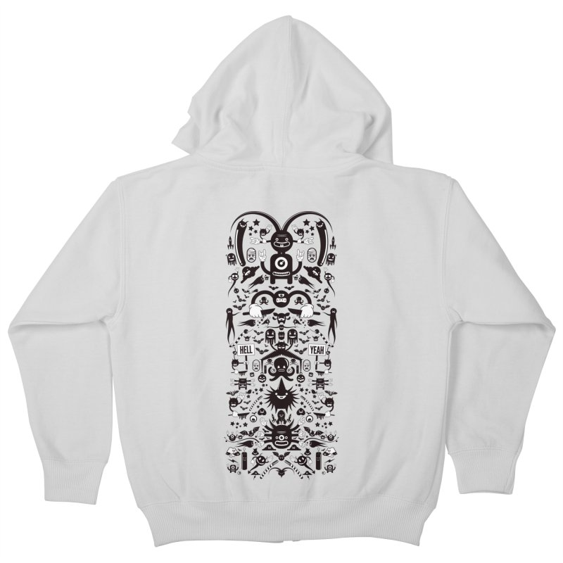 Hell Kids Zip-Up Hoody by Tony Bamber's Artist Shop
