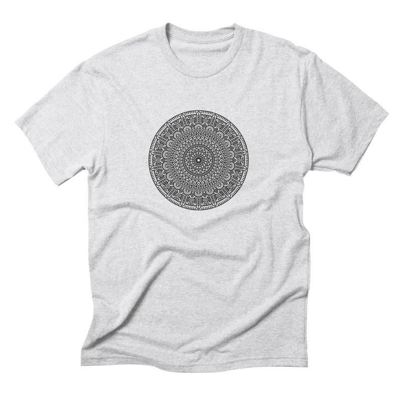 Mandala Men's Triblend T-Shirt by Tony Bamber's Shop