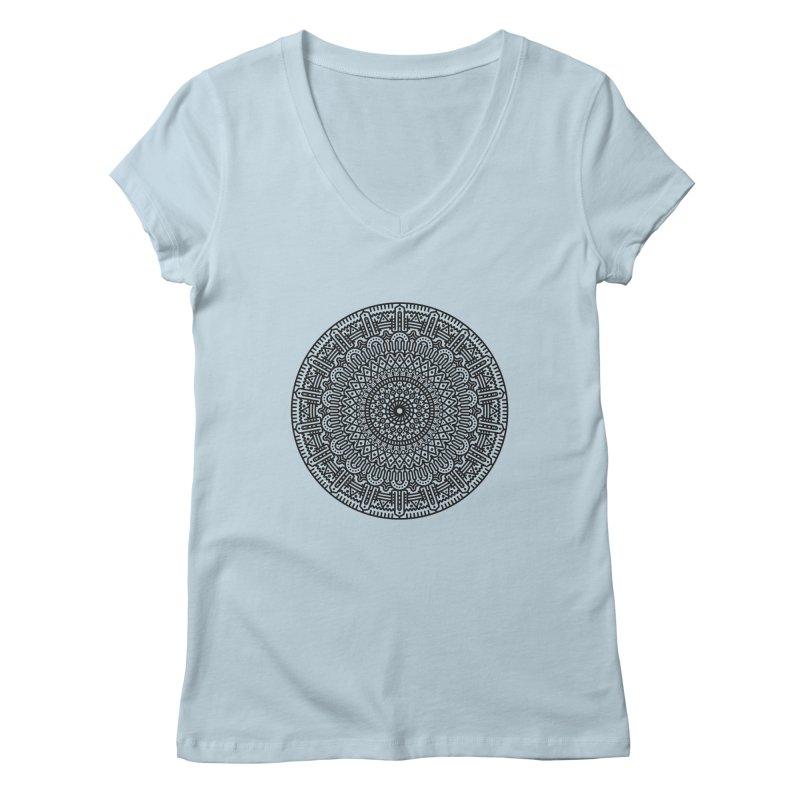 Mandala Women's Regular V-Neck by Tony Bamber's Shop