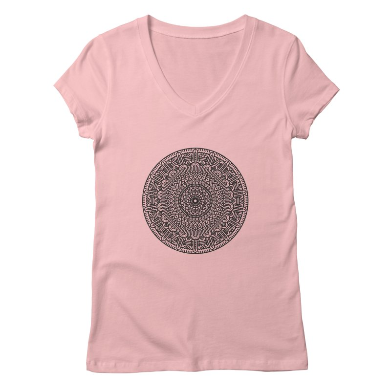 Mandala Women's Regular V-Neck by Tony Bamber's Shop