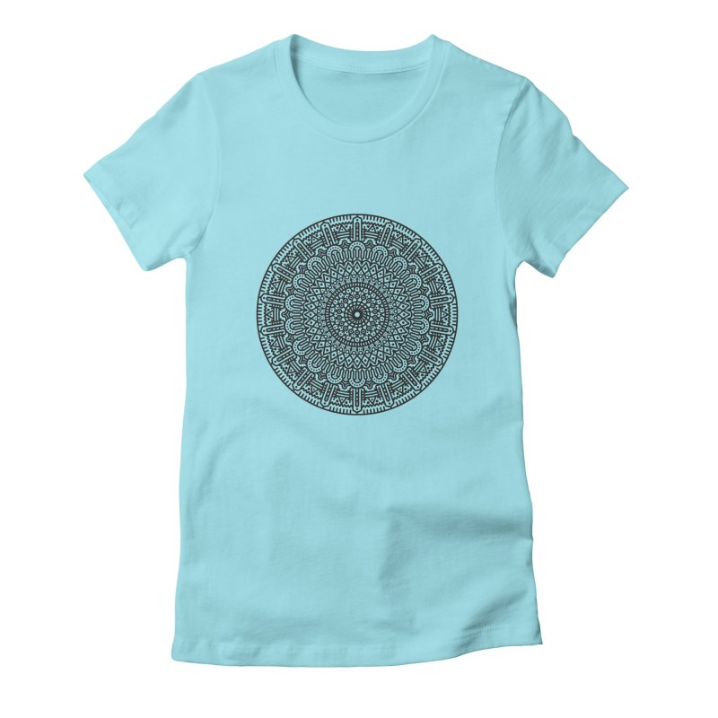 Mandala Women's Fitted T-Shirt by Tony Bamber's Shop