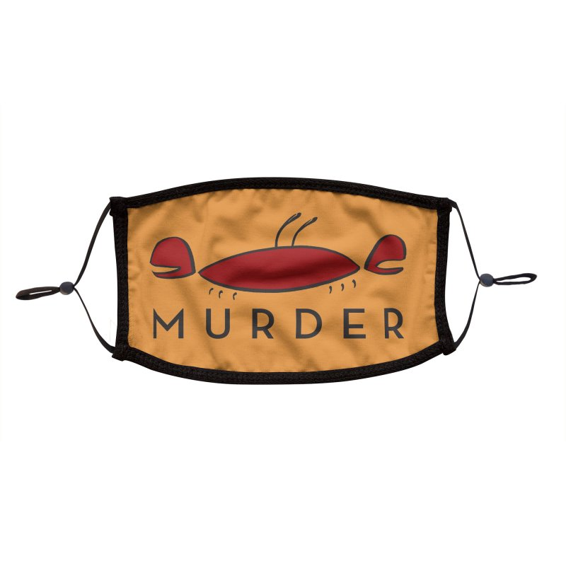 MURDER CRAB Accessories Face Mask by Tony Breed T-Shirt Designs