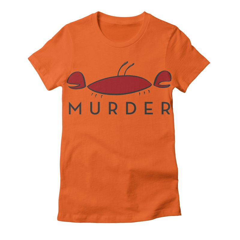 MURDER CRAB Women's Fitted T-Shirt by Tony Breed T-Shirt Designs