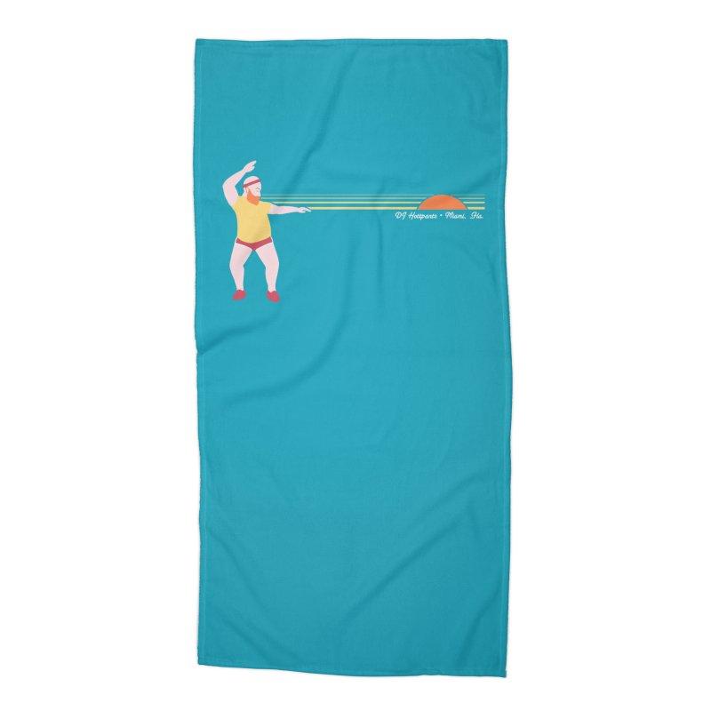 DJ Hottpants, Miami Fla. Accessories Beach Towel by Tony Breed T-Shirt Designs