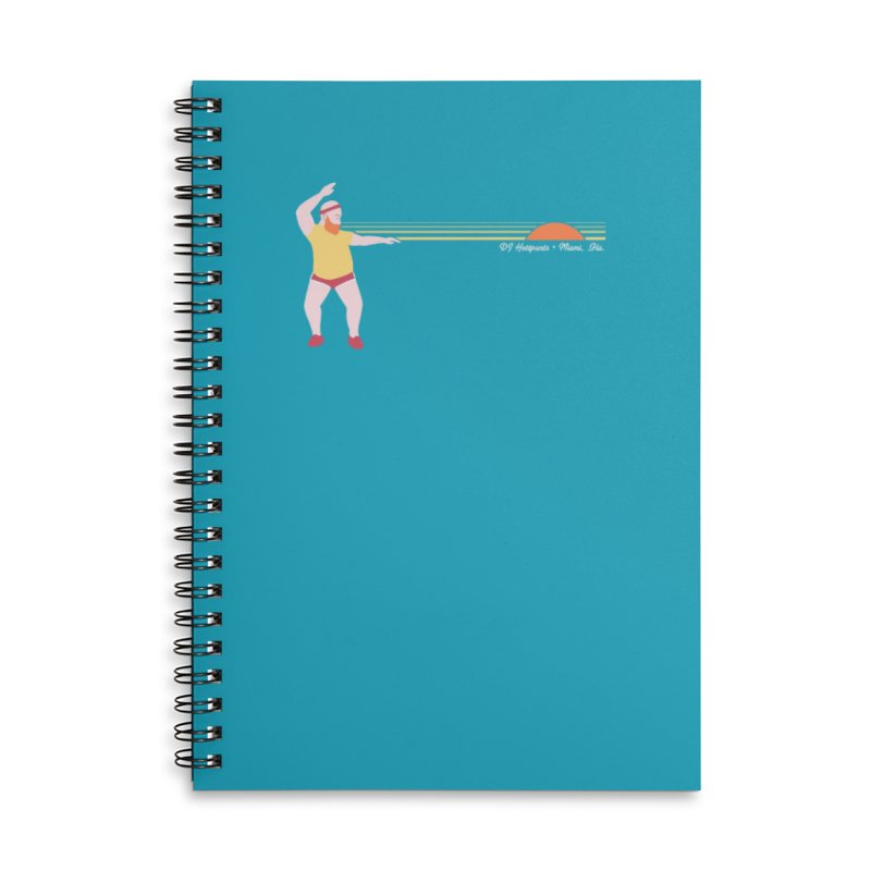 DJ Hottpants, Miami Fla. Accessories Notebook by Tony Breed T-Shirt Designs