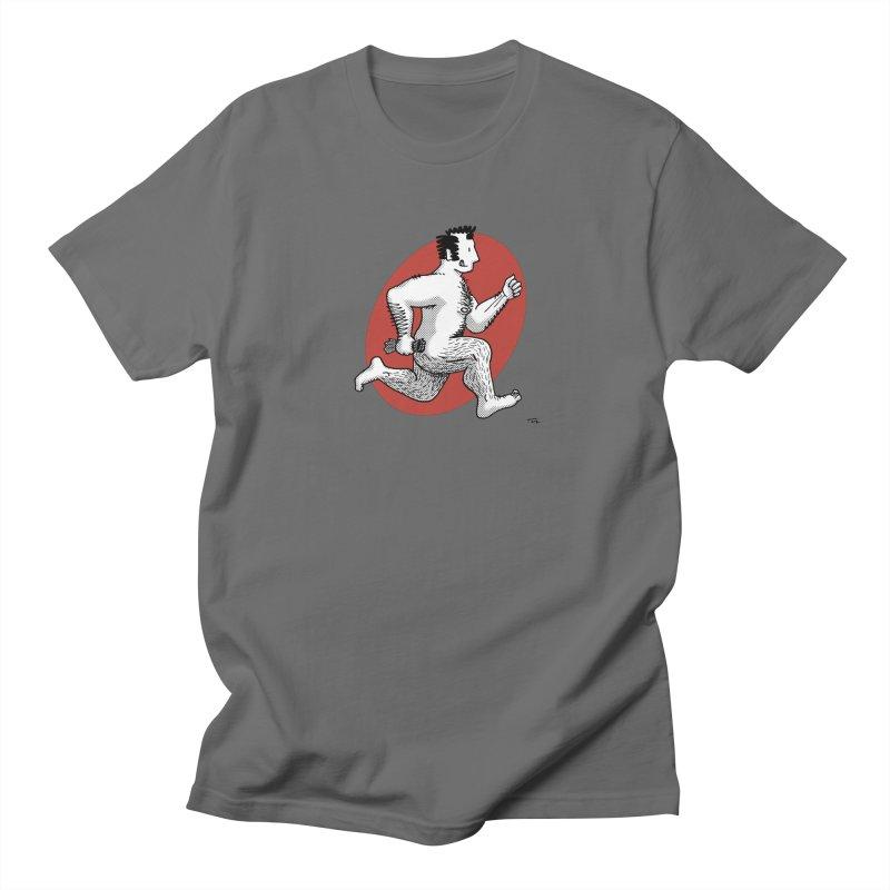Finn Running (Grey/Red) Men's T-Shirt by Tony Breed T-Shirt Designs