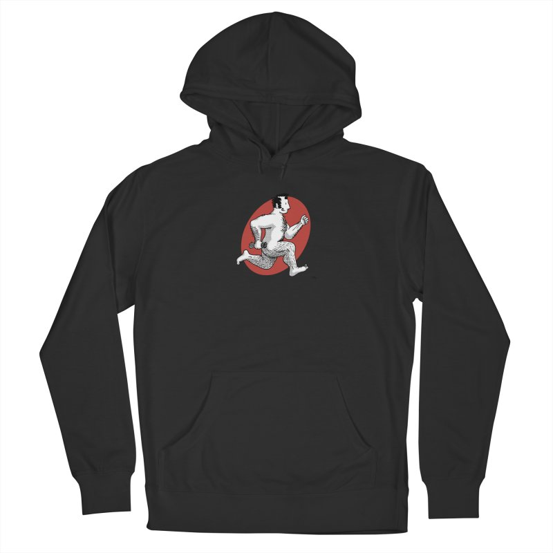 Finn Running (Grey/Red) Women's Pullover Hoody by Tony Breed T-Shirt Designs