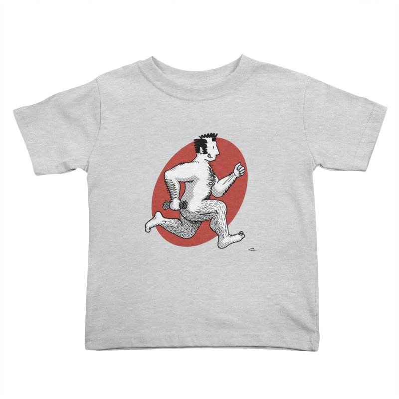 Finn Running (Grey/Red) Kids Toddler T-Shirt by Tony Breed T-Shirt Designs