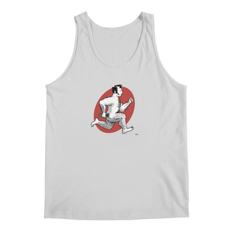 Finn Running (Grey/Red) Men's Tank by Tony Breed T-Shirt Designs