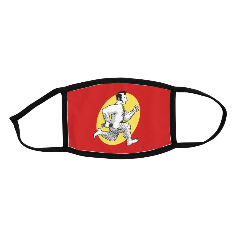Finn Running (red/yellow) Accessories Face Mask by Tony Breed T-Shirt Designs