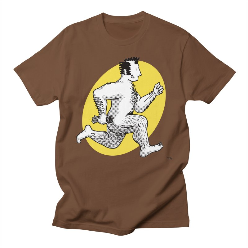Finn Running (red/yellow) Men's T-Shirt by Tony Breed T-Shirt Designs