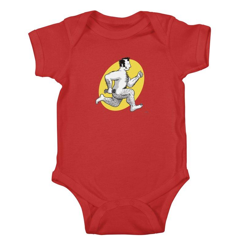 Finn Running (red/yellow) Kids Baby Bodysuit by Tony Breed T-Shirt Designs