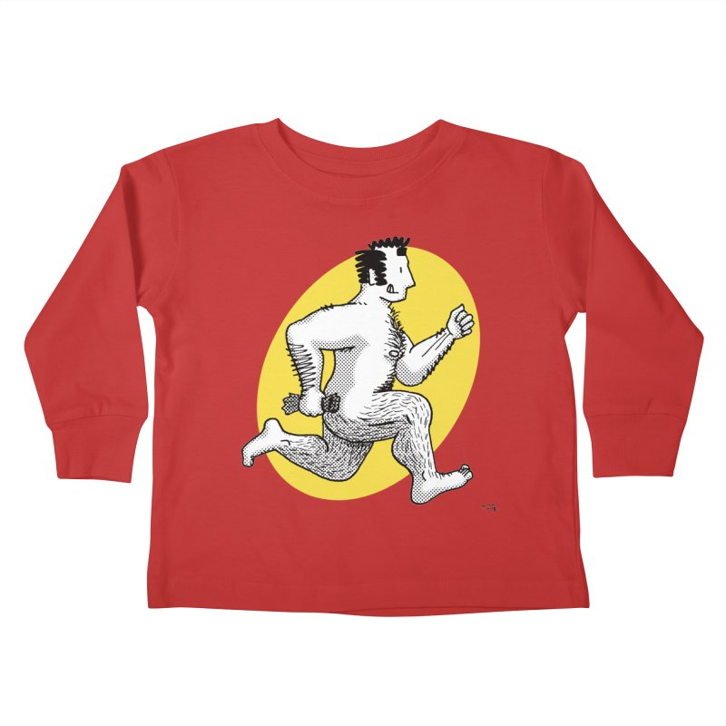 Finn Running (red/yellow) Kids Toddler Longsleeve T-Shirt by Tony Breed T-Shirt Designs