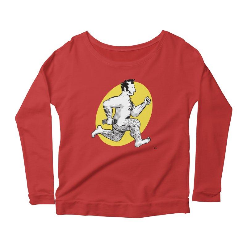Finn Running (red/yellow) Women's Longsleeve Scoopneck  by Tony Breed T-Shirt Designs