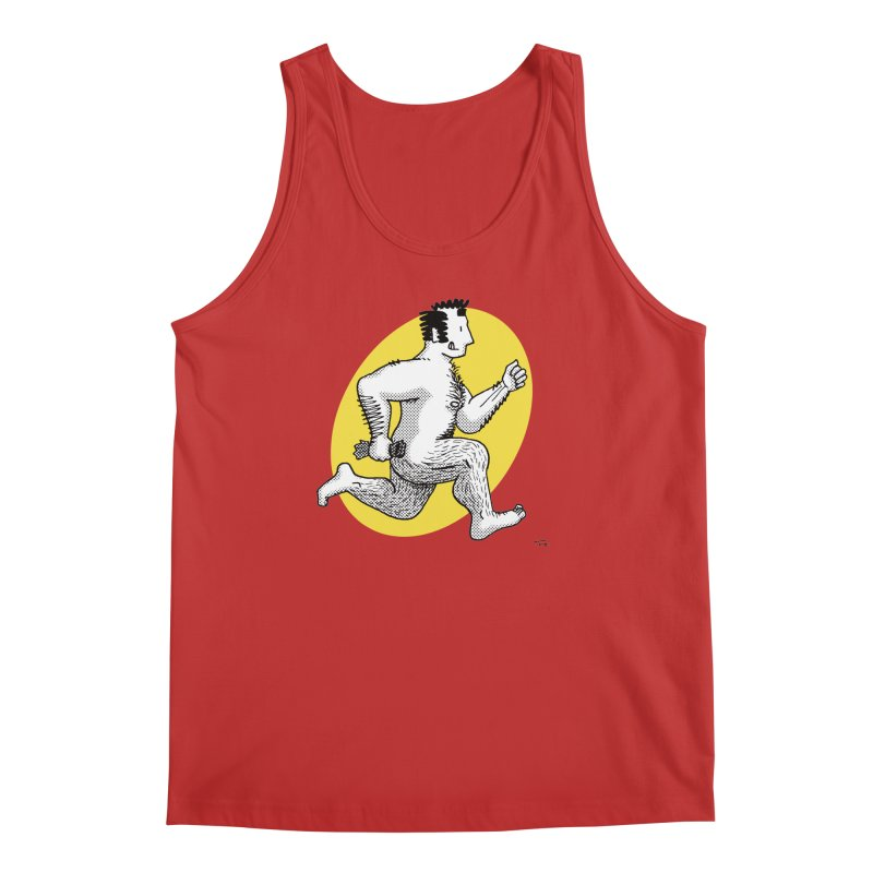 Finn Running (red/yellow) Men's Tank by Tony Breed T-Shirt Designs
