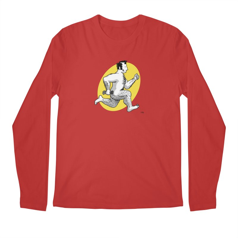 Finn Running (red/yellow) Men's Longsleeve T-Shirt by Tony Breed T-Shirt Designs
