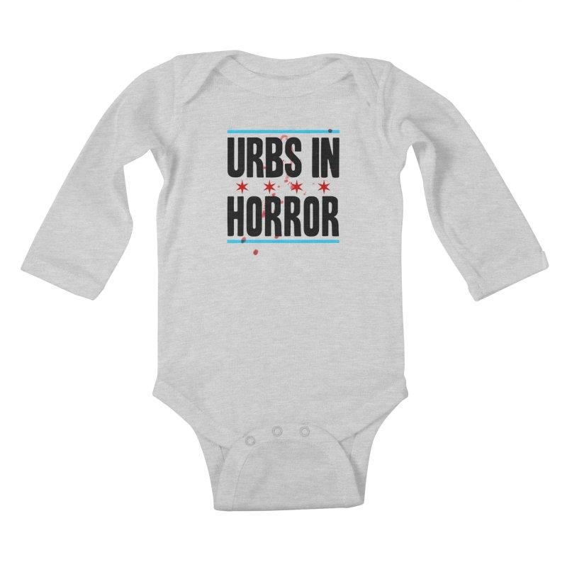 URBS IN HORROR Kids Baby Longsleeve Bodysuit by Tony Breed T-Shirt Designs