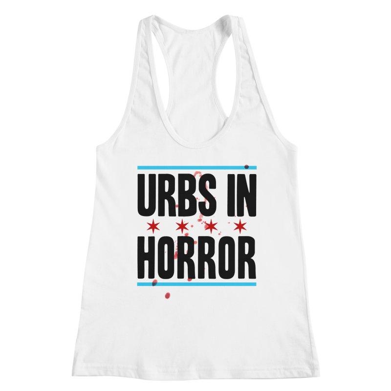 URBS IN HORROR Women's Racerback Tank by Tony Breed T-Shirt Designs
