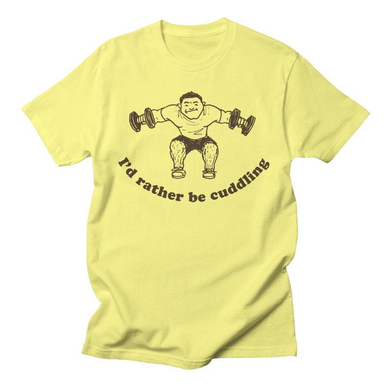 I'd Rather Be Cuddling workout shirt (brown ink) Men's T-Shirt by Tony Breed T-Shirt Designs