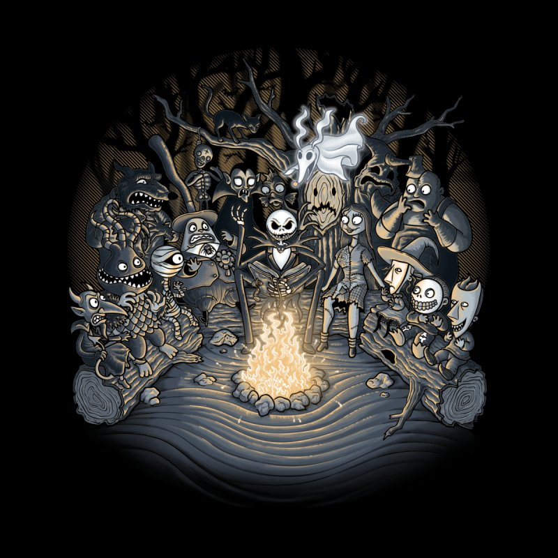 Halloween Tale Kids T-shirt by tonycenteno's Artist Shop