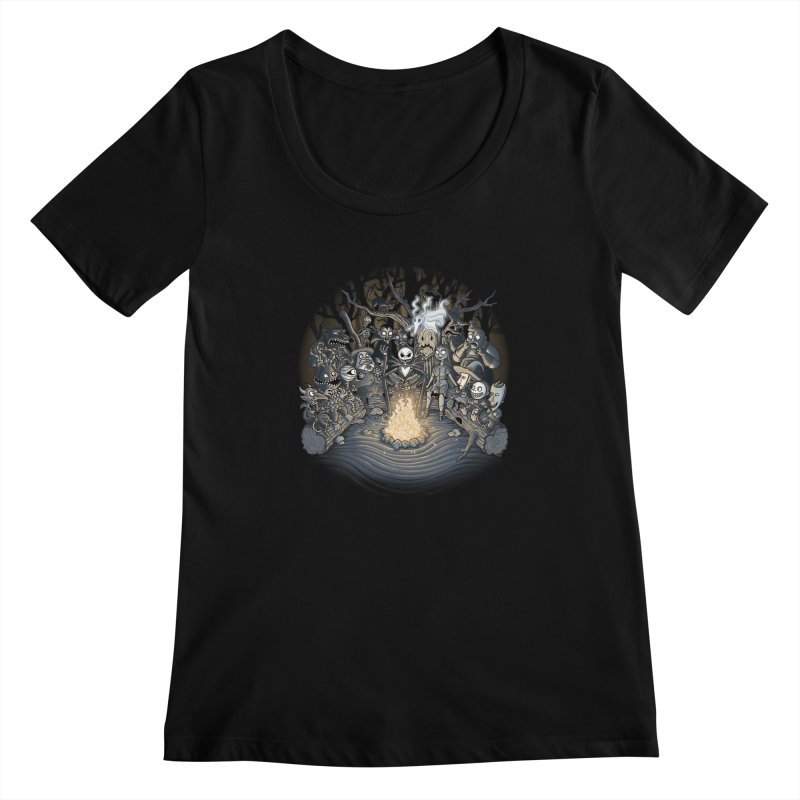 Halloween Tale Women's Scoopneck by tonycenteno's Artist Shop