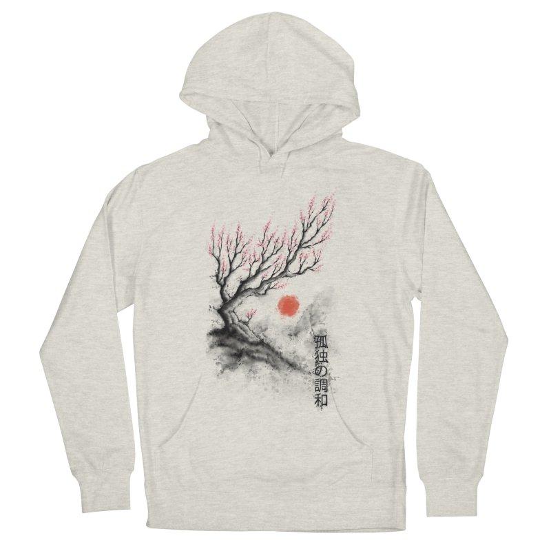 Sakura sumi-e Men's Pullover Hoody by tonycenteno's Artist Shop