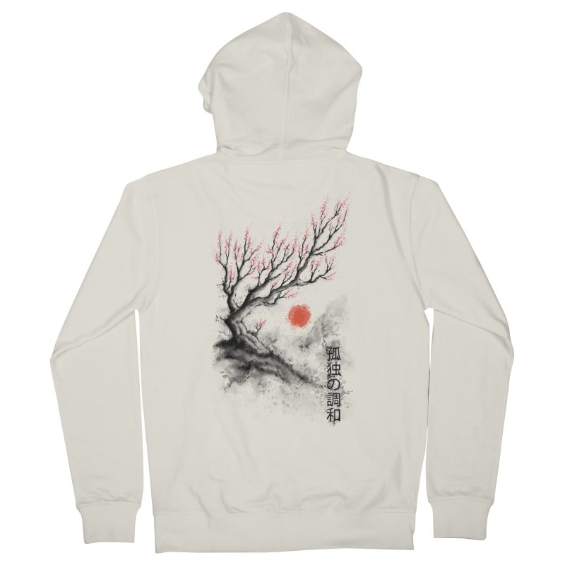 Sakura sumi-e Women's Zip-Up Hoody by tonycenteno's Artist Shop