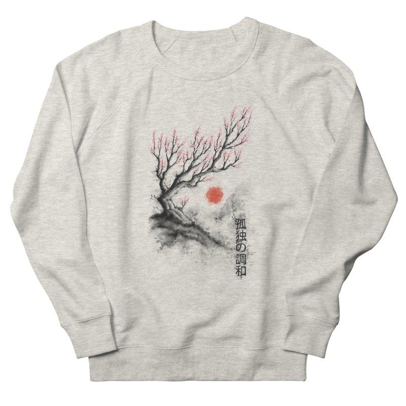 Sakura sumi-e Women's Sweatshirt by tonycenteno's Artist Shop