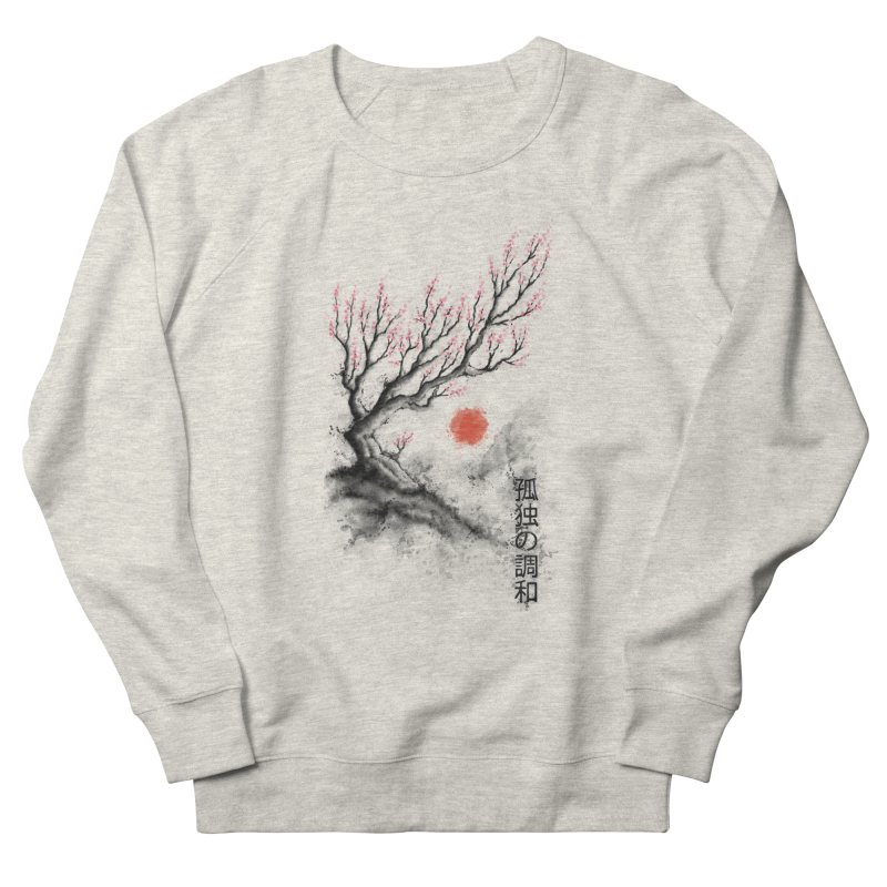 Sakura sumi-e Men's Sweatshirt by tonycenteno's Artist Shop