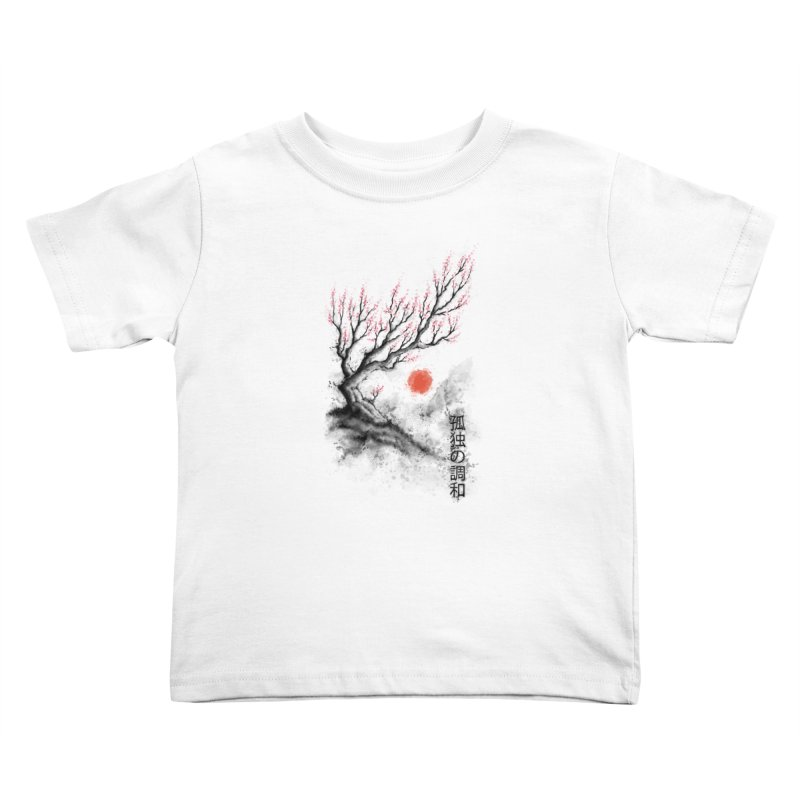 Sakura sumi-e Kids Toddler T-Shirt by tonycenteno's Artist Shop