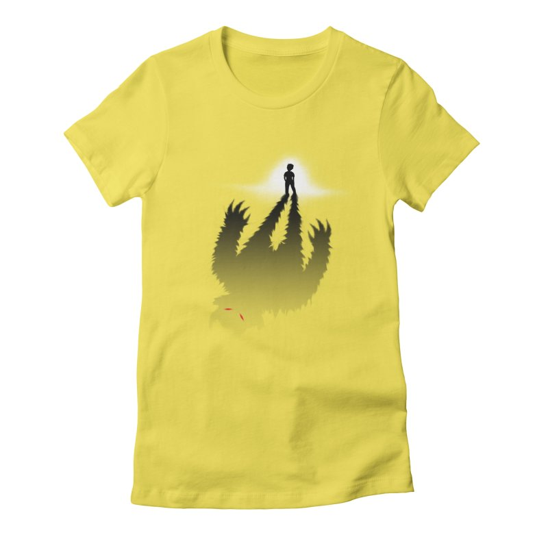 Monster in Me Women's Fitted T-Shirt by tonydesign's Artist Shop