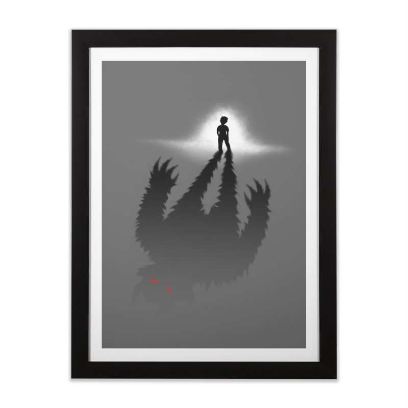 Monster in Me Home Framed Fine Art Print by tonydesign's Artist Shop