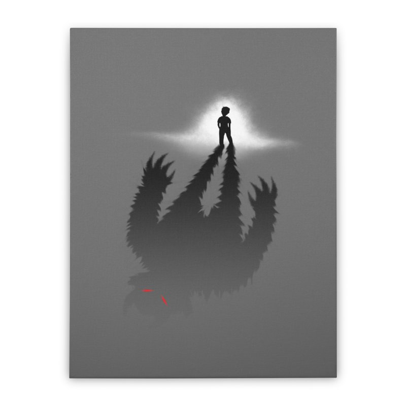 Monster in Me Home Stretched Canvas by tonydesign's Artist Shop