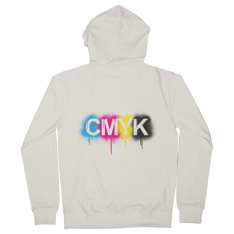 CMYK Men's Zip-Up Hoody by tonydesign's Artist Shop