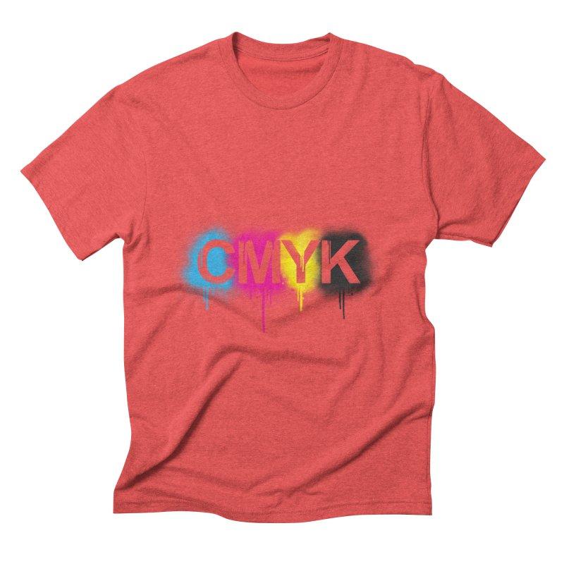 CMYK Men's Triblend T-Shirt by tonydesign's Artist Shop
