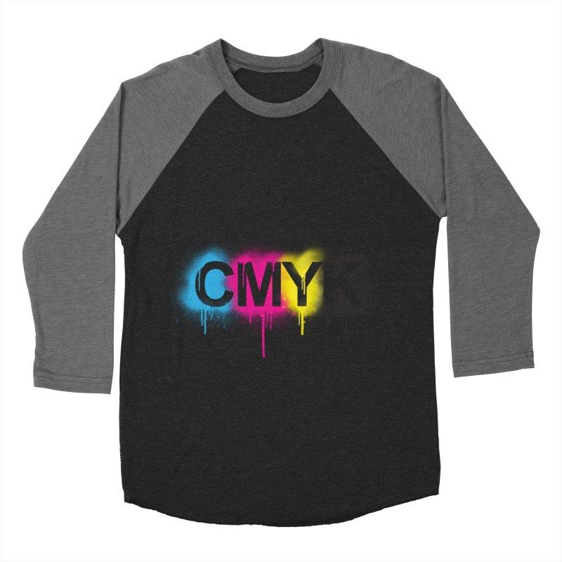 CMYK Men's Baseball Triblend T-Shirt by tonydesign's Artist Shop