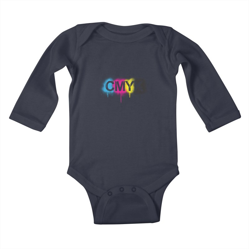 CMYK Kids Baby Longsleeve Bodysuit by tonydesign's Artist Shop