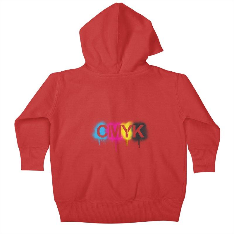 CMYK Kids Baby Zip-Up Hoody by tonydesign's Artist Shop