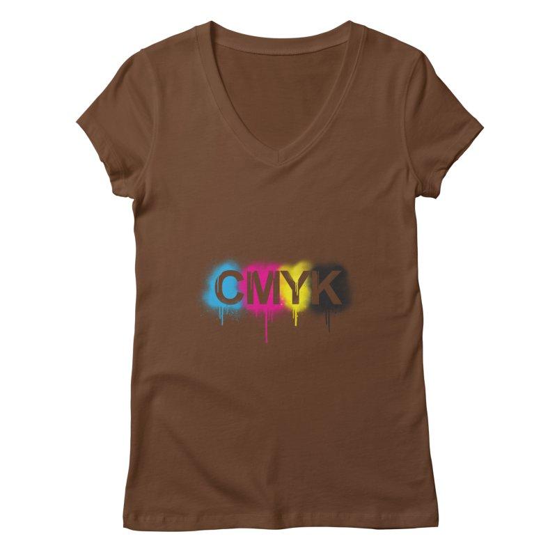 CMYK Women's V-Neck by tonydesign's Artist Shop
