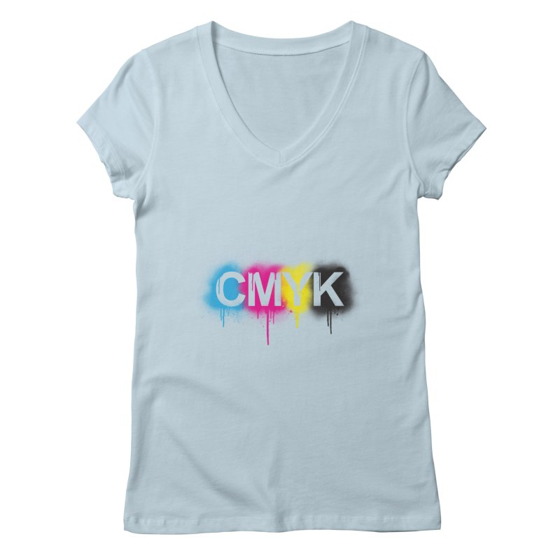 CMYK Women's V-Neck by tonydesign's Artist Shop