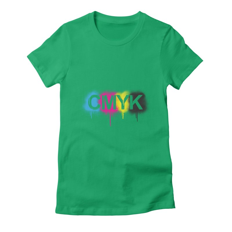 CMYK Women's Fitted T-Shirt by tonydesign's Artist Shop