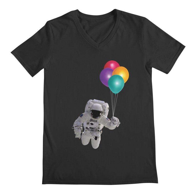 Houston, I'm Flying Men's V-Neck by tonydesign's Artist Shop