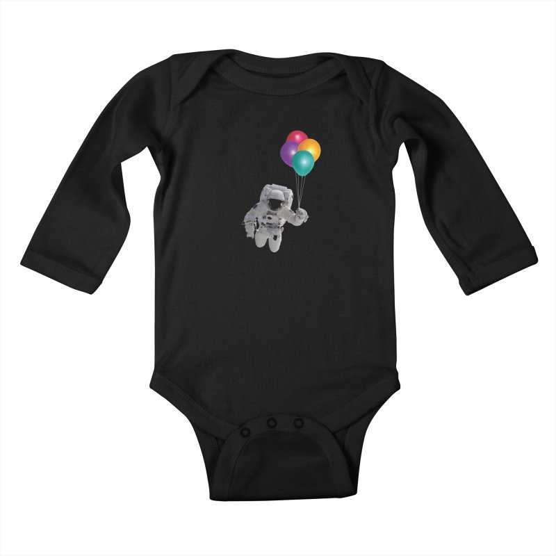 Houston, I'm Flying Kids Baby Longsleeve Bodysuit by tonydesign's Artist Shop