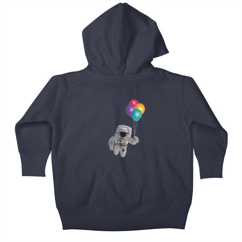 Houston, I'm Flying Kids Baby Zip-Up Hoody by tonydesign's Artist Shop