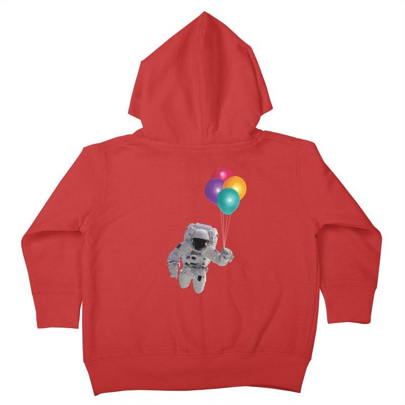 Houston, I'm Flying Kids Toddler Zip-Up Hoody by tonydesign's Artist Shop