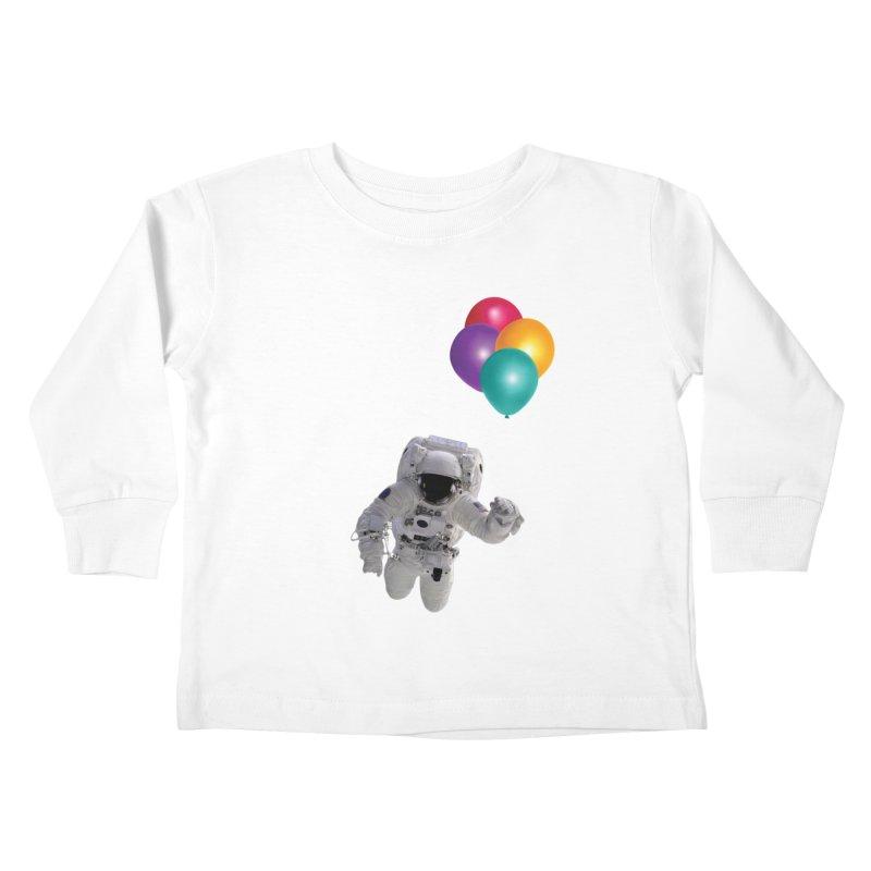 Houston, I'm Flying Kids Toddler Longsleeve T-Shirt by tonydesign's Artist Shop