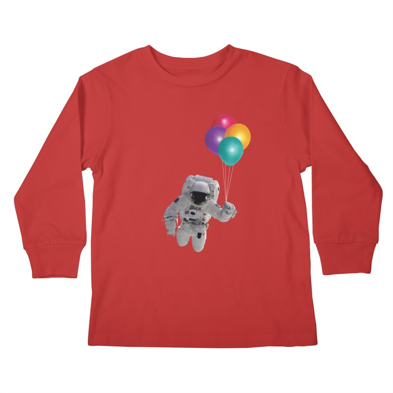 Houston, I'm Flying Kids Longsleeve T-Shirt by tonydesign's Artist Shop
